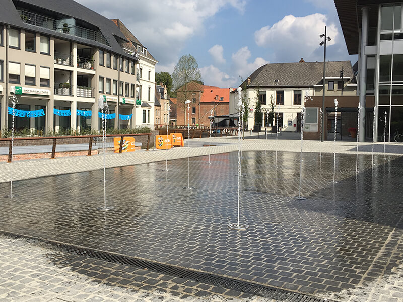 Publieke fontein Hellend Vlak Diest Fountain Factory